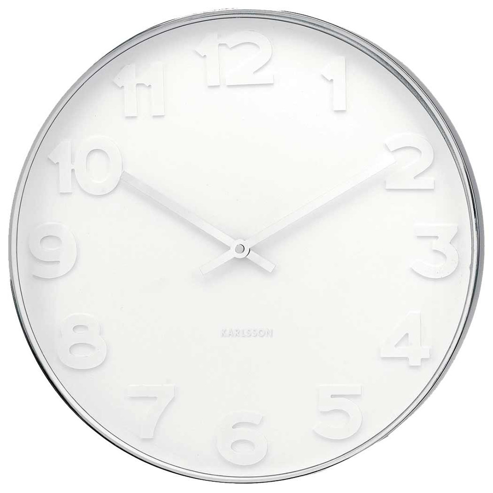 KARLSSON WALL CLOCK MR WHITE LARGE - white - (Ø 51 x 7 cm)