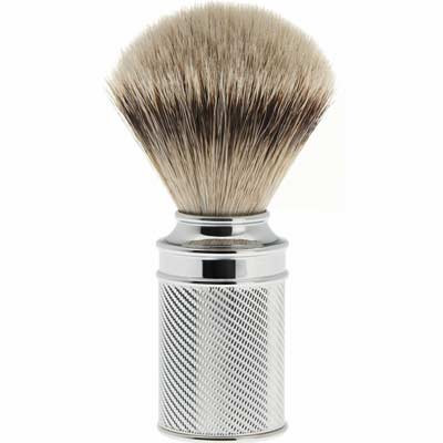 MUEHLE shaving brush M89, silver tip badger hair, chrome handle