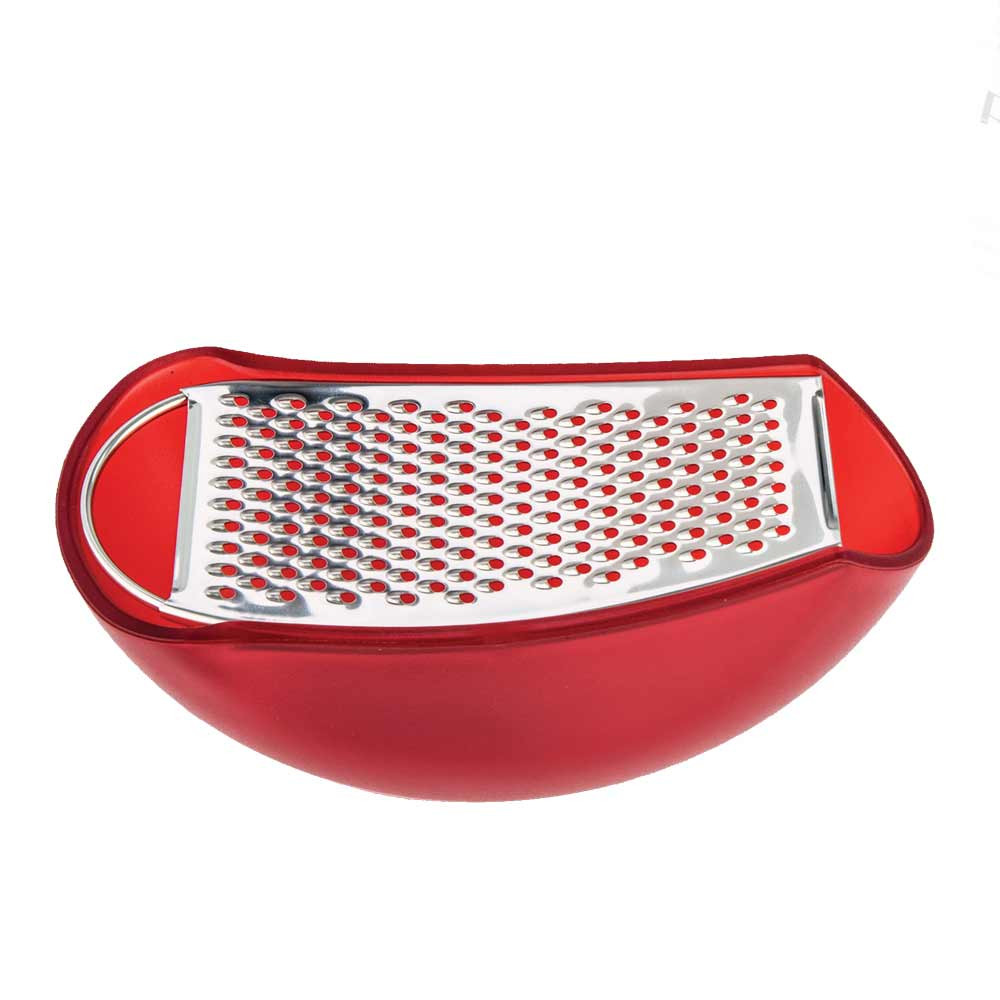 Alessi Parmenide cheese grater with red cellar  sc 1 st  The Design Gift Shop & Italian cheese grater Alessi Parmenide with red cellar
