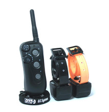The R.A.P.T 1400 2 Dog training collar controls 2 dogs out to 1280 metres in all terrains
