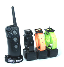The R.A.P.T 1400 series 3 Dog training collar controls 3 dogs out to 1280 metres in all terrains