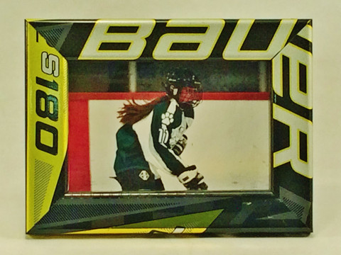 Black with Yellow-Green & Silver Graphics