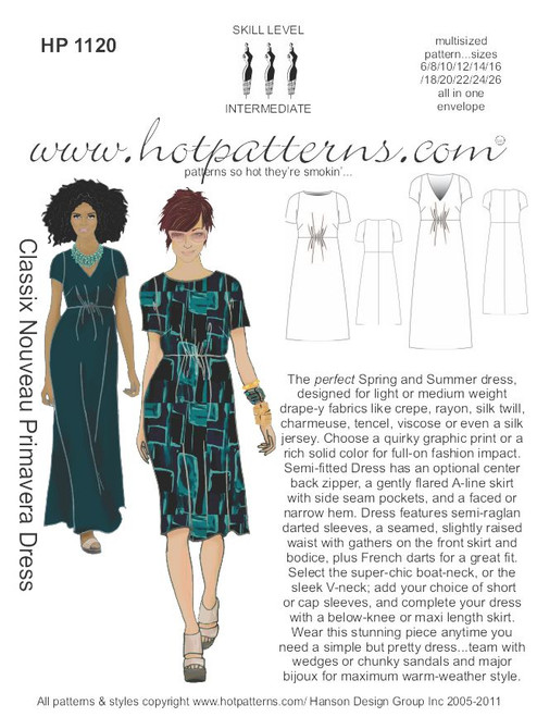 HP 40 Classix Nouveau Primavera Dress HotPatterns Magnificent Hot Patterns