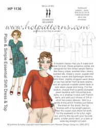 HP 1136 Plain & Simple Essential Shift Dress & Top
