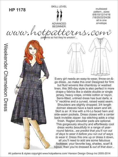 HP 40 Weekender Chameleon Dress HotPatterns Unique Hot Patterns