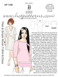 HP 1186 Plain & Simple Woven T-Shirt & Dress