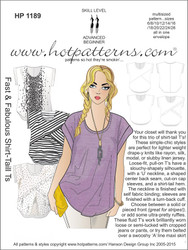 HP 1189 A4 download Fast & Fabulous Shirt-Tail T's