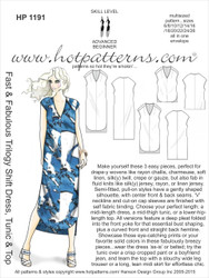 HP 1191 DOWNLOAD Arch E, A4 & letter Fast & Fabulous Trilogy Shift Dress, Tunic & Top