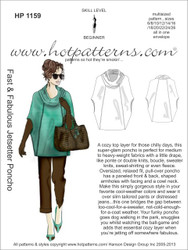 HP 1159 A4 download Fast & Fabulous Jetsetter Poncho