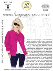 1195 A4 download Plain & Simple Scooter Jacket & Car Coat