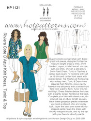 HP 1121 DOWNLOAD Arch E, A4 & letter Riviera Cote D' Azur Knit Dress, Tunic & Top