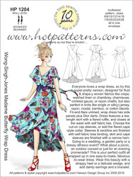 HP 1204 DOWNLOAD Arch E, A4 & letter Madame Butterfly Wrap Dress