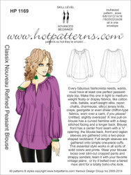 HP 1169 A4 & letter download Classix Nouveau Refined Peasant Blouse