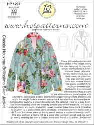 HP 1207 letter download Classix Nouveau Bellissima Biker Jacket