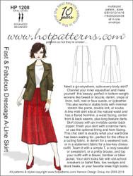 HP 1208 A4 download Fast & Fabulous Dressage A-Line Skirt