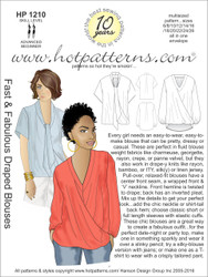 HP 1210 Fast & Fabulous Draped Blouses