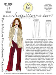 HP 1212 Fast & Fabulous Princess-Seamed Trackpants