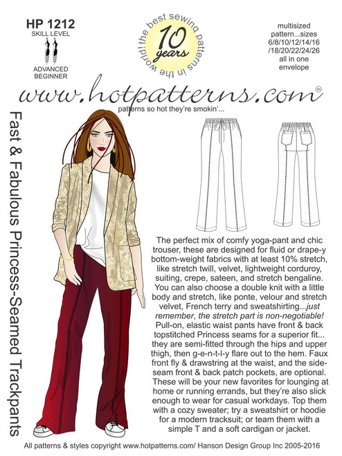 Remarkable Hp 1158 Fast Fabulous Tailored Trackpants Hotpatterns Com Hairstyles For Men Maxibearus