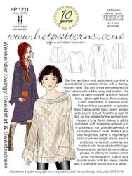 HP 1211 A4 download Weekender Swingy Sweatshirt & Sweaterdress