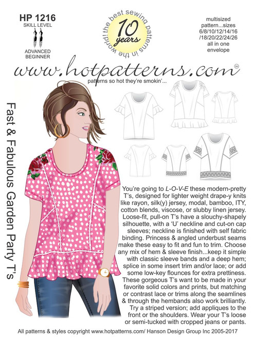 HP 40 Fast Fabulous Garden Party T's HotPatterns Inspiration Hot Patterns