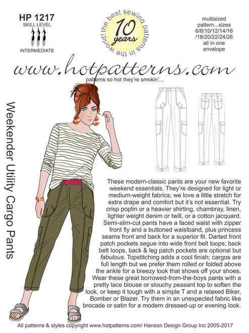 HP 40 Weekender Utility Cargo Pants HotPatterns Inspiration Hot Patterns