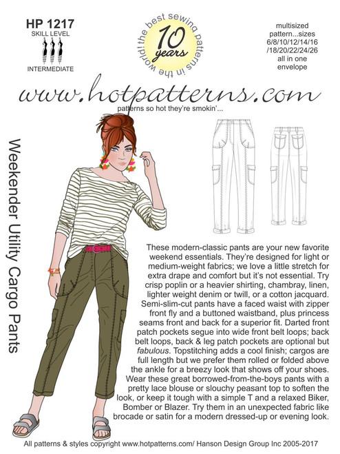 HP 40 Weekender Utility Cargo Pants HotPatterns Inspiration Hot Patterns