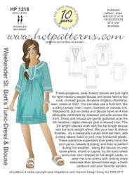 HP 1218 DOWNLOAD Arch E, A4 & letter St. Bart's Tunic-Dress & Blouse