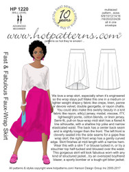 HP 1220 Fast & Fabulous Faux-Wrap Skirt