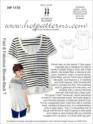 HP 1170 A4 AND letter download Fast & Fabulous Blouse-Back T