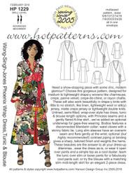 HP 1229 Wong-Singh-Jones Phoenix Wrap Dress, Tunic & Blouse