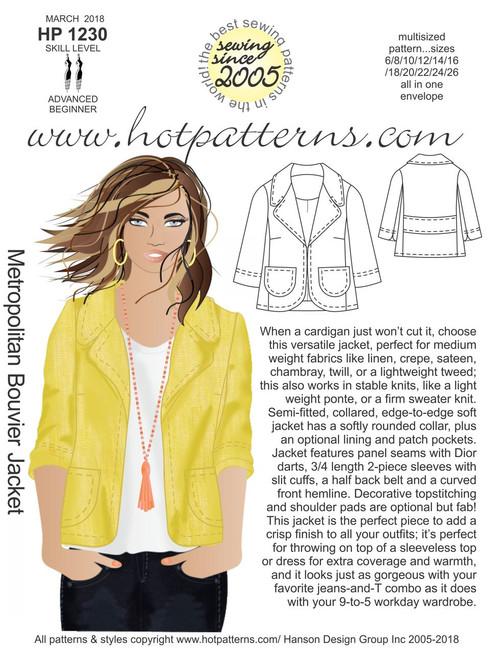 HP 40 Metropolitan Bouvier Jacket HotPatterns Awesome Hot Patterns