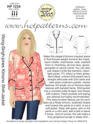 HP 1234 DL A4 & letter Wong-Singh-Jones Kimono Shirt-Jacket