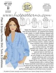HP 1237 Plain & Simple Favorite Shirt, Tunic & Shirtdress