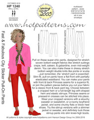 HP 1240 A4 & letter DL Fast & Fabulous City Slicker Pull-On Pants