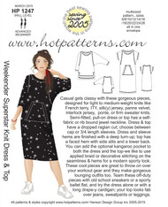 HP 1247 dl ALL SIZES TO PRINT Weekender Superstar Knit Dress & Top