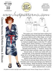 HP 1248 dl ALL SIZES TO PRINT Classix Nouveau Effortless Dress & Blouse