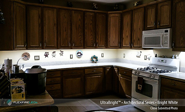 Under Cabinet Strip Lighting Kit Example