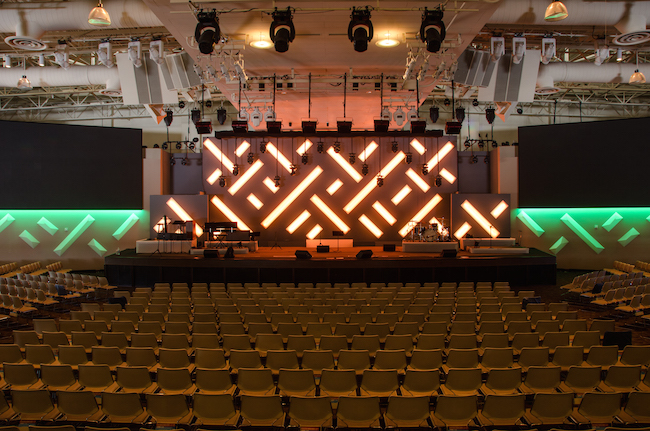 RGB Lighting in saddleback church design