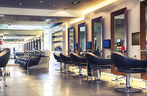 warm white 32 ft strip kit barber shop example