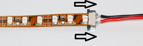 How to install solderless connectors for led strip lighting connected led strip light with solderless connector asfbconference2016 Choice Image