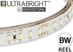 architectural bright white led strip light reel