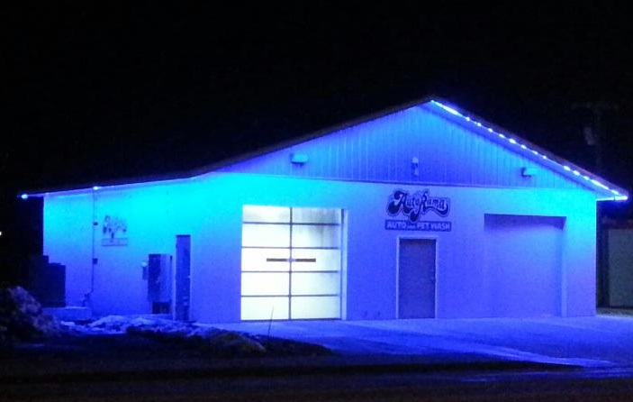 Awesome Outdoor Led Strip Light Install At Carwash