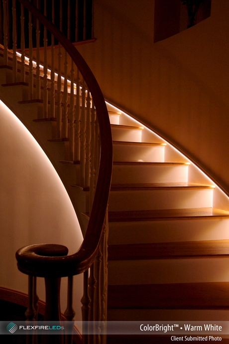 Lighting Basement Washroom Stairs: LED Walkway And Stairway Lighting