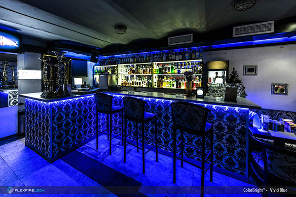 Blue led strip bar