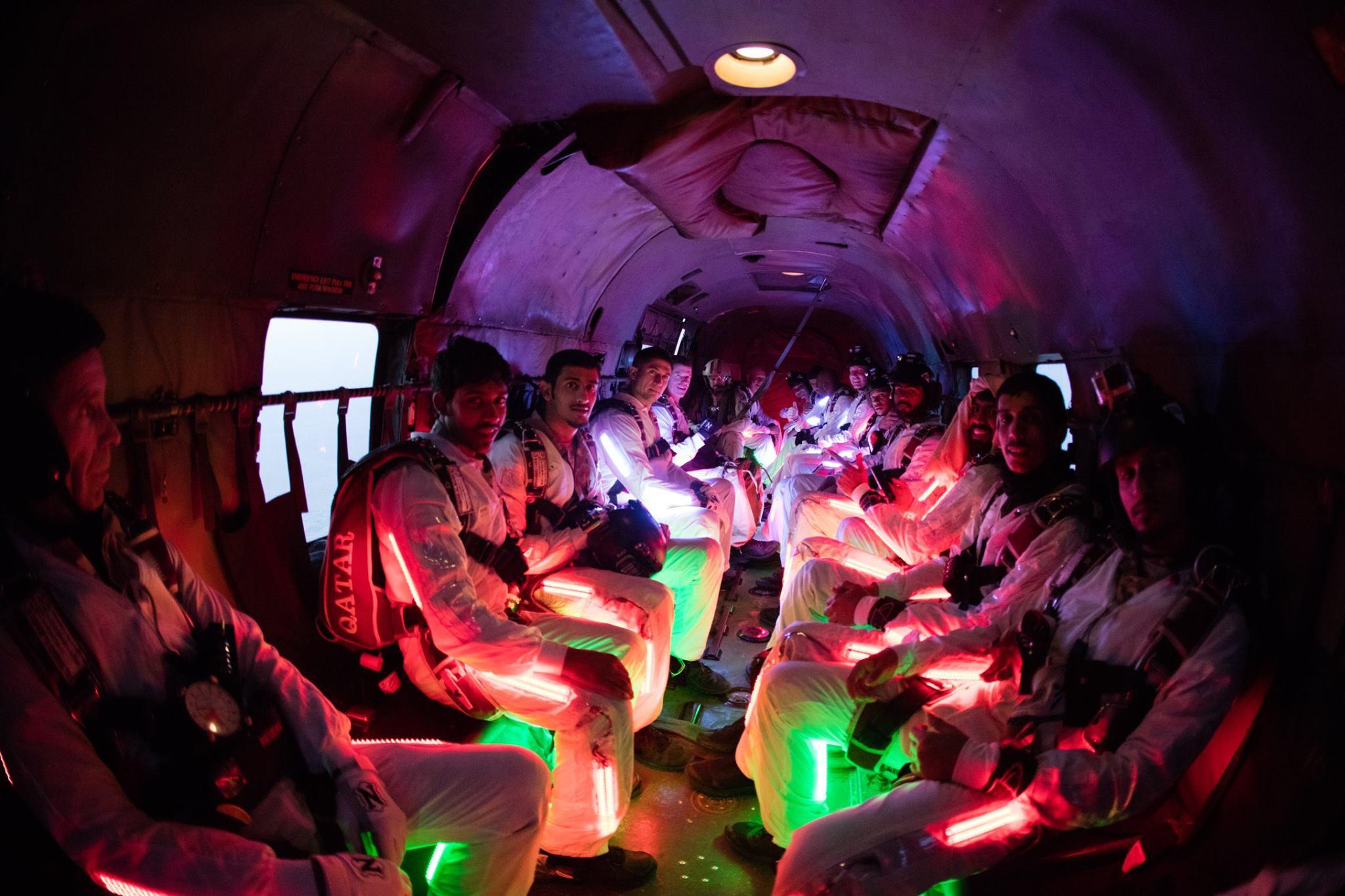 custom lighting parachute formation LEDs