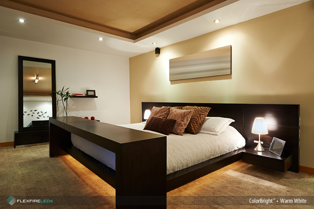 Hotel bedroom LED strip lighting design