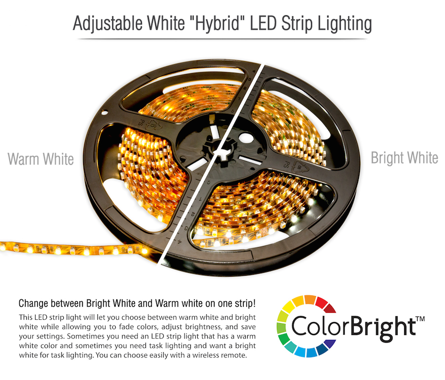 Hybrid LED strip lighting