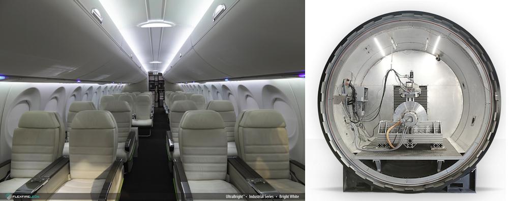 Industrial Ultra Bright flexible LED strip light example hyperloop