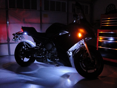 The intense accent lighting placed on this motorcycle is highly functional and gives it a modern vibe. & Custom and Specialty LED Strip Lighting Projects from Flexfire LEDs azcodes.com