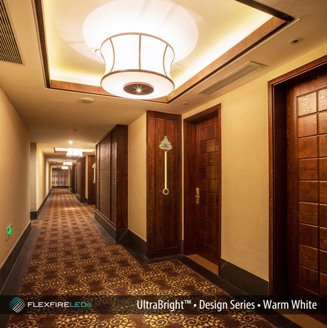 Hotel cove lighting LED example
